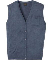 gilet in maglia misto lana (blu) - bpc selection