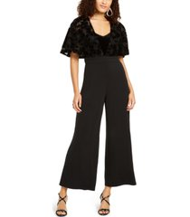 thalia sodi lace-mesh surplice jumpsuit, created for macy's