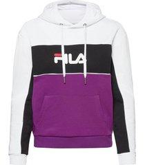 women aqila blocked hoody hoodie trui paars fila