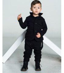 spodnie baggy black buttons