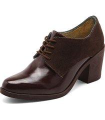 zapato para dama tellenzi oxford - café