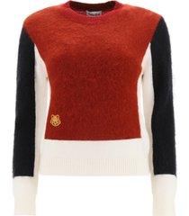 kenzo colour-block mohair wool sweater