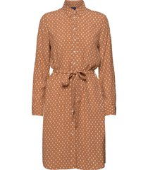 d1. desert jewel print shirt dress kort klänning brun gant