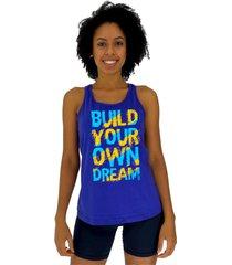 regata feminina alto conceito build your own azul royal
