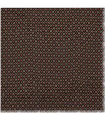 gucci shawl with gg star print - black