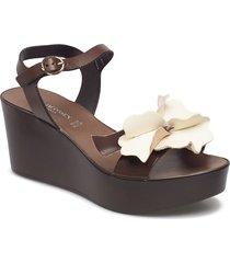 high heel sandal shoes summer shoes wedges brun ilse jacobsen