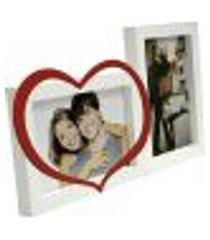 painel love para mesa 2 foto branco e vermelho