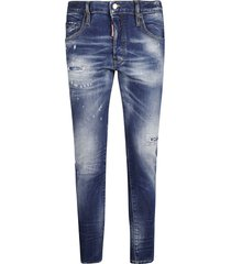 dsquared2 cropped destroyed jeans