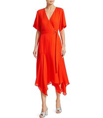claire silk wrap dress