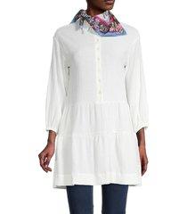 bindya women's floral-print square scarf - white multi