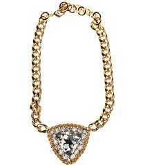 alessandra rich crystal triangle pendant necklace