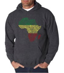la pop art men's countries in africa word art hooded sweatshirt