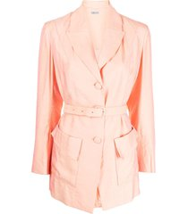 baruni x ramadan single-breasted belted blazer - pink