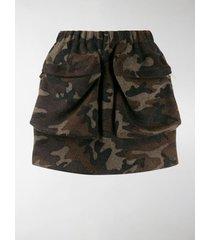 miu miu camouflage short skirt