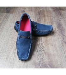 zapatos mocasines braid para hombre outfit azul