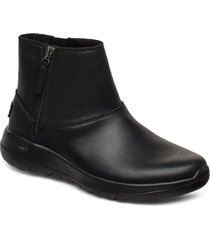 womens on-the-go joy shoes boots ankle boots ankle boot - flat svart skechers