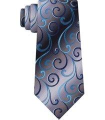 van heusen men's swirly vines silk tie