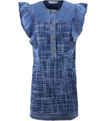 philosophy di lorenzo serafini dark blue denim dress