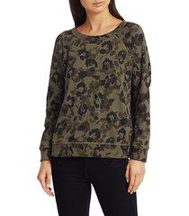 n:philanthropy women's midnight rambler montreal sweatshirt - army leopard - size xs