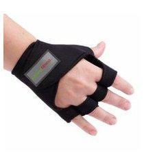 kit 2 luvas de musculação academia com protetor tamanho p e m natural fitness