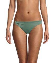 onia women's vanessa bikini bottom - army green - size m