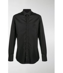 dolce & gabbana embroidered logo cotton shirt
