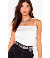 womens tie oh tie cropped cami top - white
