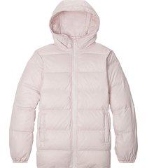 converse chaqueta media de plumón pink