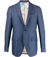 etro chambray blazer - blue