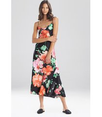 natori peony blossoms silk nightgown sleep pajamas & loungewear, women's, 100% silk, size xs natori