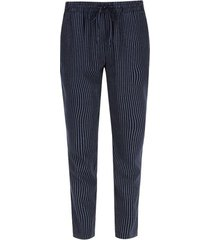 pantalon mujer a rayas color azul, talla 10