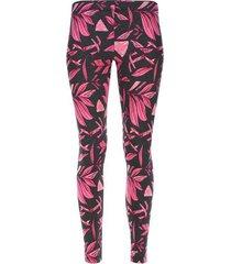 legging deportivo hojas largas color rosado, talla xs