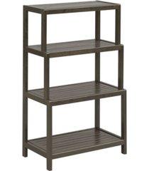 new ridge home goods dunnsville 4-tier step back shelf bookcase