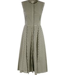 patterned long dress woolrich