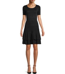 maje women's mini a-line dress - black - size 1 (xs)