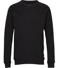 cotton rib stelt sweat-shirt tröja svart mads nørgaard