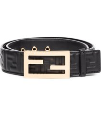fendi ff baguette belt - black