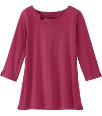 shirt van bio-katoen met kraagbies, wild berry 46