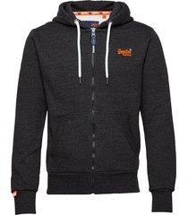 orange label classic ziphood hoodie trui grijs superdry