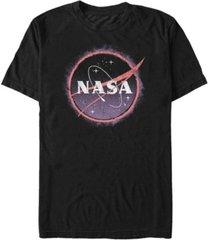 fifth sun nasa men's distressed grainy logo short sleeve t- shirt