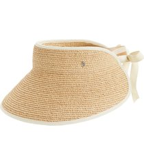 helen kaminski mita packable raffia visor in natural sand at nordstrom