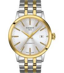 men's tissot classic dream automatic bracelet watch, 42mm