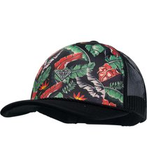 bone diamond tropical paradise cap preto