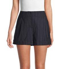 rag & bone women's jess pinstripe shorts - navy - size 2