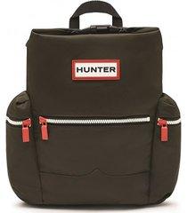 hunter rugzak original mini top clip backpack dark olive