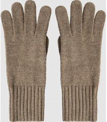 reiss georgia - cashmere gloves in camel, womens