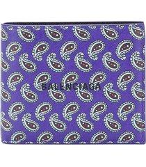purple paisley wallet
