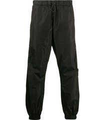 marcelo burlon county of milan county tape slouchy track pants - black