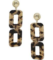 ettika double square resin earrings