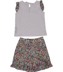 paio crippa floral shorts set